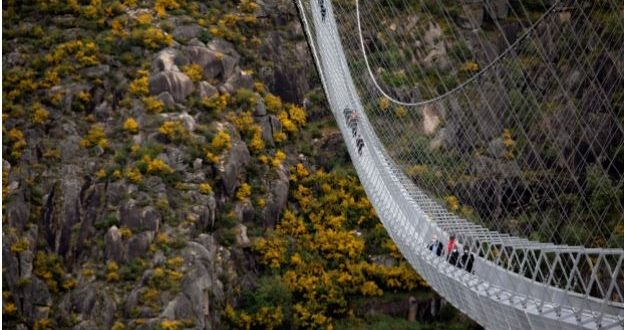 World's longest pedestrian suspension bridge Arouca 516 opens in Portugal